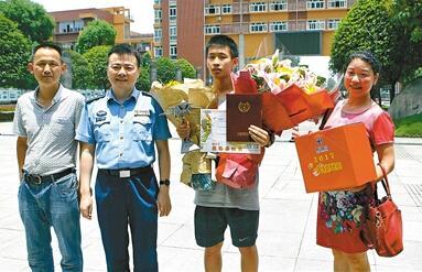 四川省2017年第一封高考录取通知书发出