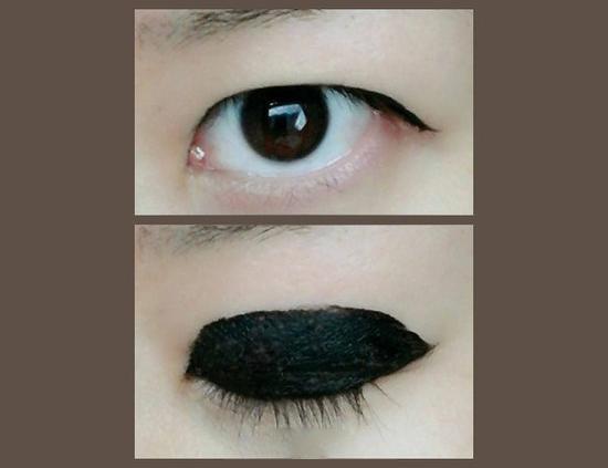 展示自己画过眼线睁眼后基本看图片