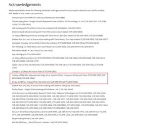 知道创宇404安全实验室获Adobe官方致谢