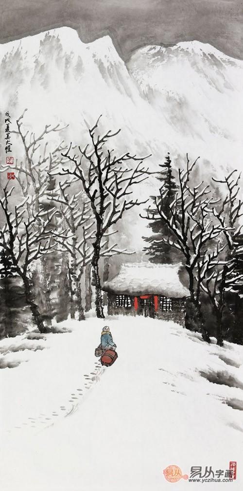 清新独特传统国画 实力派画家吴大恺雪景山水