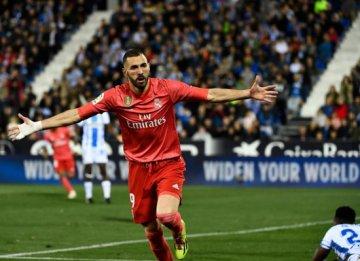 西甲联赛第32轮 皇马客场1-1平莱加内斯
