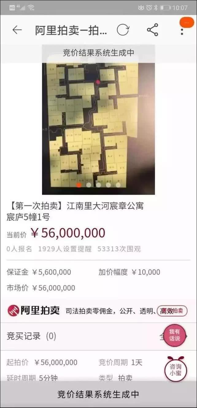 连输三套房5600万豪宅拍卖 拍卖讯息引发5万多人网上围观