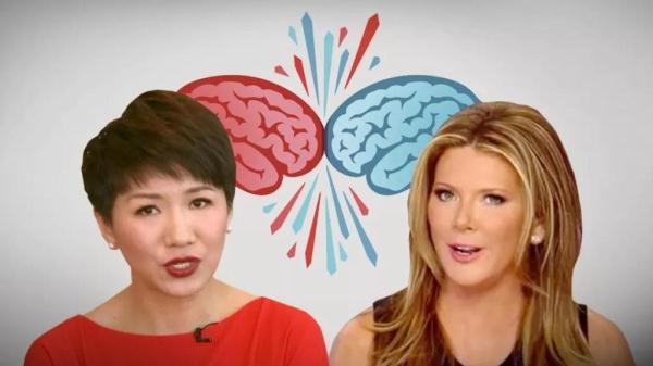 CGTN主播刘欣与FOX主播约辩 神仙打架你看好谁?