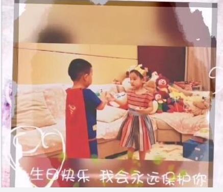 佟丽娅儿子为董璇女儿庆生 两个人最后还热情地抱在一块儿
